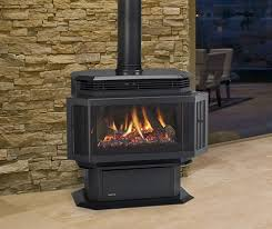 freestanding gas stove fireplace. Quadra-Fire Hudson Bay Large Freestanding Gas Stove. Show In Matte Black Finish With Standard Safety Screen. Stove Fireplace O
