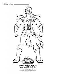 Online Power Rangers Samurai Coloring Page