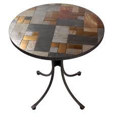 slasto tile mosaic 70cm round 3 seater