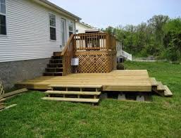 floating deck on uneven ground building