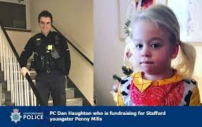 PC Dan Haugton cycled 400 miles and ran up 400 flights of stairs for Penny  Mills aged who has childhood dementia — Police Hour