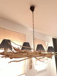 Tafellamp Houten Plafond Opknoping Licht Drijfhout Lamp