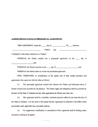 Illinois Prenuptial Agreement Form Fill Online Printable