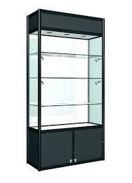 locking glass display case aluminium single door glass display cabinet with lockable storage locking case double