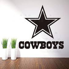 dallas cowboy wall decal art new design cheap home decor cowboys rugby logo wall sticker removable  on dallas cowboys logo wall art with dallas cowboy wall decal cowboys logo giant officially licensed