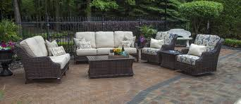 patio couch set deep seating patio furniture sets  mila collection all weather wicker patio furniture deep
