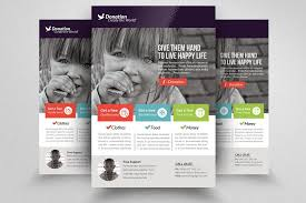 Donation Flyer Template Adorable Charity Donation Flyer Templates
