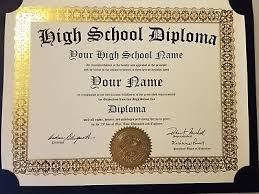 high school diploma name high school diploma w gold seal newest edition for 2018 gag gift