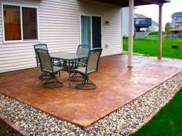 plain concrete patio. Cheap Garden Paving Concrete Patio Design Ideas Plain T