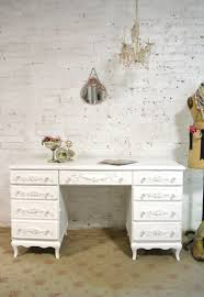 Painted Cottage Chic Shabby White Romantic French Desk