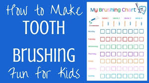 Free Printable Tooth Brushing Chart How To Improve Kids Dental Hygiene Free Tooth Brushing Chart