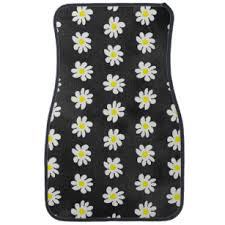girly car floor mats. Delighful Floor Girly Floral White Daisy Pattern Black Watercolor Car Mat For Car Floor Mats R