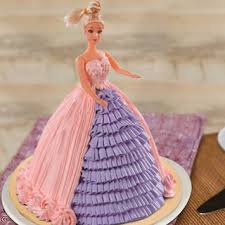 Send Barbie Floral Dress Cake Online In India At Indiagiftin