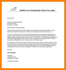 how to write a thank you letter for scholarship 5e