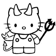 Free printable hello kitty coloring pages for pages. Coloring Halloween Hello Kitty Free Coloring Pages