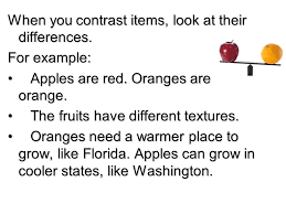 compare and contrast essay ppt video online  when you contrast items look at their differences
