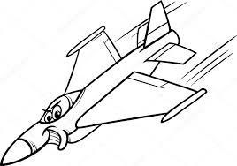 Straaljager Vliegtuig Kleurplaat Stockvector Izakowski 43396889