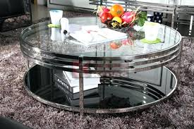 mirrored coffee table round blue glass mirror