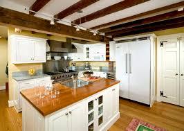 remodeling kitchen design with shelf island door track lighting shaker cabinets beams lighting