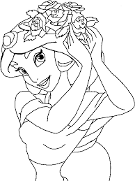 Small Picture Jasmine Brushing Hair Coloring Page Aladdin pages of