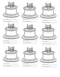 Freebie Birthday Cakes For Use In Pocket Chart Calendar