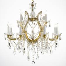 maria theresa 13 light gold crystal chandelier