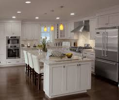 Painting Over Kitchen Cabinets Amazing Painted Kitchen Cabinets In Alabaster Finish Kitchen Craft
