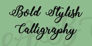 bold stylish calligraphy font 1001 fonts
