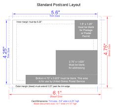 average postcard size standard postcard size template