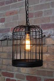 Birdcage-Light-with-edsion-light-bulb-in-black-
