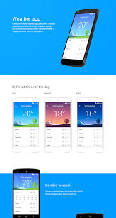 Android Weather App Design Android Weather App Ui Design Onaircode