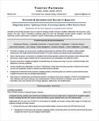 8 Sample Information Security Analyst Resumes Sample Templates