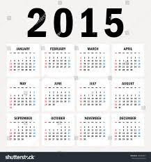 Simple 2015 Calendar Simple 2015 Year Vector Calendar 2015 Stock Vector Royalty Free