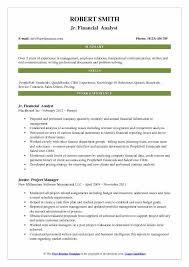 Junior Financial Analyst Resume Samples QwikResume Amazing Resume Headline For Financial Analyst