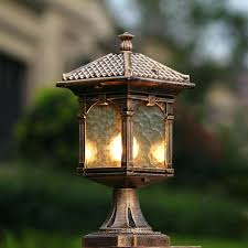 decorative outdoor pillar lamp balcony garden post light courtyard fence column lighting lights australia