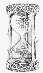 Disegno Per Tatuaggio Clessidra Simbolo Del Tempo Che Scorre Lei