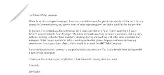 Cover Letter For Sales Associate Position Retail Resume Cover ...