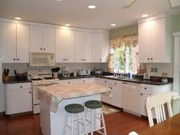 paint euro style laminate cabinets and add hardware apartment pertaining to white decor 10