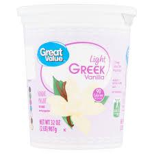 Great Value Light Vanilla Greek Yogurt Nutrition Facts Great Value Light Greek Vanilla Nonfat Yogurt 32 Oz