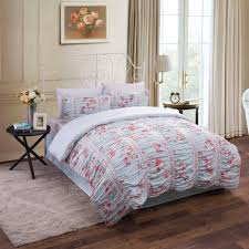 ruched floral cotton bedding comforter set  walmartcom