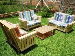 cushioned pallet garden sitting furniture