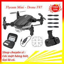 Flycam mini, flycam giá rẻ, máy bay không người lái F87 quay phim, chụp  ảnh, chống rung quang học - Đồ chơi điều khiển