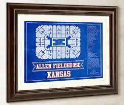 Fnc Seating Chart Kansas Jayhawks Allen Fieldhouse Seating Chart College Basketball Blueprint Art