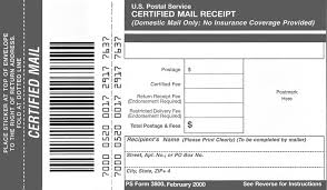 Domestic Mail Manual S912 Certified Mail