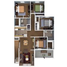 Apartment 4 Bedroom Floor Plans