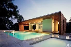 pool house interior. Architects Hariri \u0026 Designed This Contemporary Ipe-paneled Poolhouse In Wilton, Connecticut. Pool House Interior U