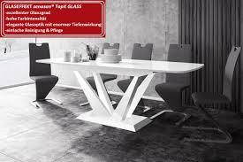 Design Esstisch Hpe 111 Weiß Hochglanz Ausziehbar 160 208 256 Cm