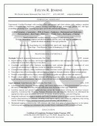 Examples Of Paralegal Resumes