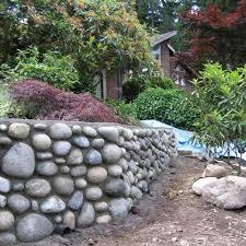 rock wall landscape rock retaining wall