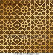 Arabic Pattern Arabic Pattern Gold Style Traditional Arab East Geometric